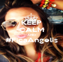 KEEP CALM AND #FicaAngelis  - Personalised Poster A1 size