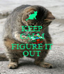 KEEP CALM AND FIGURE IT OUT - Personalised Poster A1 size