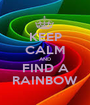 KEEP CALM AND FIND A RAINBOW - Personalised Poster A1 size