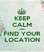 KEEP CALM AND FIND YOUR LOCATION - Personalised Poster A1 size