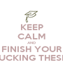 KEEP CALM AND FINISH YOUR FUCKING THESIS - Personalised Poster A1 size