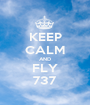 KEEP CALM AND FLY 737 - Personalised Poster A1 size