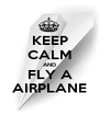KEEP CALM AND FLY A AIRPLANE - Personalised Poster A1 size