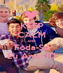 KEEP CALM AND Foda-Se Eu Amo 1D - Personalised Poster A1 size
