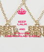 KEEP CALM AND FOLLOW CHERRYHEARTS2002 - Personalised Poster A1 size