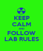 KEEP CALM AND FOLLOW LAB RULES - Personalised Poster A1 size