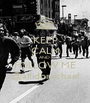 KEEP CALM AND  FOLLOW ME @alfidomichael - Personalised Poster A1 size