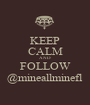 KEEP CALM AND FOLLOW @mineallminefl - Personalised Poster A1 size