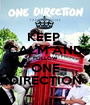 KEEP  CALM AND FOLLOW ONE DIRECTION - Personalised Poster A1 size