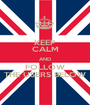 KEEP CALM AND FOLLOW THE USERS BELOW - Personalised Poster A1 size
