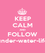 KEEP CALM AND FOLLOW under-water-life - Personalised Poster A1 size