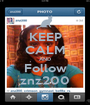 KEEP CALM AND Follow znz200 - Personalised Poster A1 size
