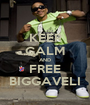 KEEP CALM AND FREE BIGGAVELI - Personalised Poster A1 size