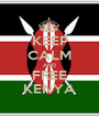 KEEP CALM AND FREE KENYA - Personalised Poster A1 size