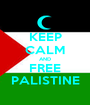 KEEP CALM AND FREE PALISTINE - Personalised Poster A1 size