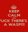 KEEP CALM AND FUCK THERE'S   A WASP!!!! - Personalised Poster A1 size