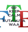 KEEP CALM AND FUTABUTA WAA - Personalised Poster A1 size