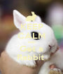 KEEP CALM AND Get a Rabbit  - Personalised Poster A1 size