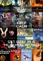 KEEP CALM AND GET LOST IN A  FICTIONAL WORLD - Personalised Poster A1 size