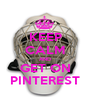 KEEP CALM AND GET ON PINTEREST - Personalised Poster A1 size