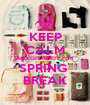 KEEP CALM AND GET READY FOR SPRING  BREAK - Personalised Poster A1 size