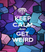 KEEP CALM AND GET WEIRD - Personalised Poster A1 size