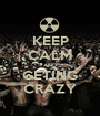KEEP CALM AND GETING CRAZY - Personalised Poster A1 size