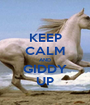 KEEP CALM AND GIDDY UP - Personalised Poster A1 size