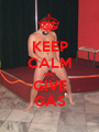 KEEP CALM AND GIVE GAS - Personalised Poster A1 size
