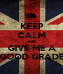 KEEP CALM AND GIVE ME A GOOD GRADE - Personalised Poster A1 size