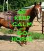 KEEP CALM AND GO HORSE - Personalised Poster A1 size