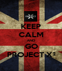KEEP CALM AND GO PROJECT X² - Personalised Poster A1 size