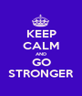 KEEP CALM AND GO STRONGER - Personalised Poster A1 size