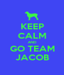 KEEP CALM AND GO TEAM JACOB - Personalised Poster A1 size