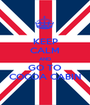 KEEP CALM AND GO TO COCOA CABIN - Personalised Poster A1 size