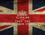 KEEP CALM AND GO TO CYBER FISK - Personalised Poster A1 size
