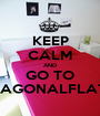 KEEP CALM AND GO TO DIAGONALFLATS - Personalised Poster A1 size