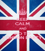 KEEP CALM AND GO TO LONDON PARTY - Personalised Poster A1 size