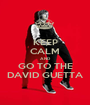 KEEP CALM AND GO TO THE DAVID GUETTA - Personalised Poster A1 size
