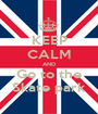 KEEP CALM AND Go to the Skate park - Personalised Poster A1 size