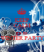 KEEP CALM AND go to  WINTER PARTY - Personalised Poster A1 size