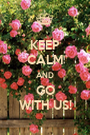 KEEP CALM AND GO WITH US! - Personalised Poster A1 size
