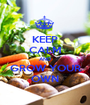 KEEP CALM AND GROW YOUR OWN - Personalised Poster A1 size