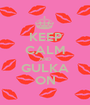 KEEP CALM AND GULKA ON - Personalised Poster A1 size