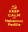 KEEP CALM AND Habemus Padilla - Personalised Poster A1 size