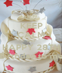KEEP CALM AND HAPPY 28TH Birthday to me - Personalised Poster A1 size