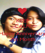 KEEP CALM AND Happy Anniversary 7th Month - Personalised Poster A1 size