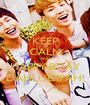 KEEP CALM AND HAPPY BDAY DAHLUCIFAH! - Personalised Poster A1 size