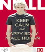 KEEP CALM AND HAPPY BDAY NIALL HORAN - Personalised Poster A1 size