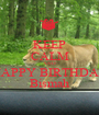 KEEP CALM AND HAPPY BIRTHDAY Bismah - Personalised Poster A1 size